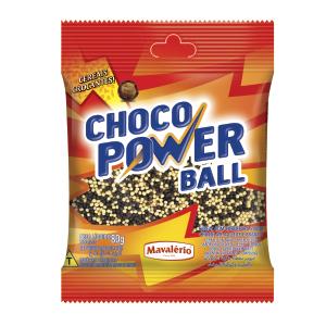 Choco Power Ball Micro Leite Branco 80g Mavalerio Presente Nos Doces Momentos